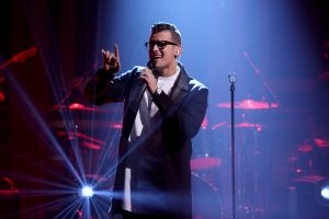 THE TONIGHT SHOW STARRING JIMMY FALLON -- Episode 0558 -- Pictured: Musical guest Stanaj performs on October 26, 2016 -- (Photo by: Andrew Lipovsky/NBC)